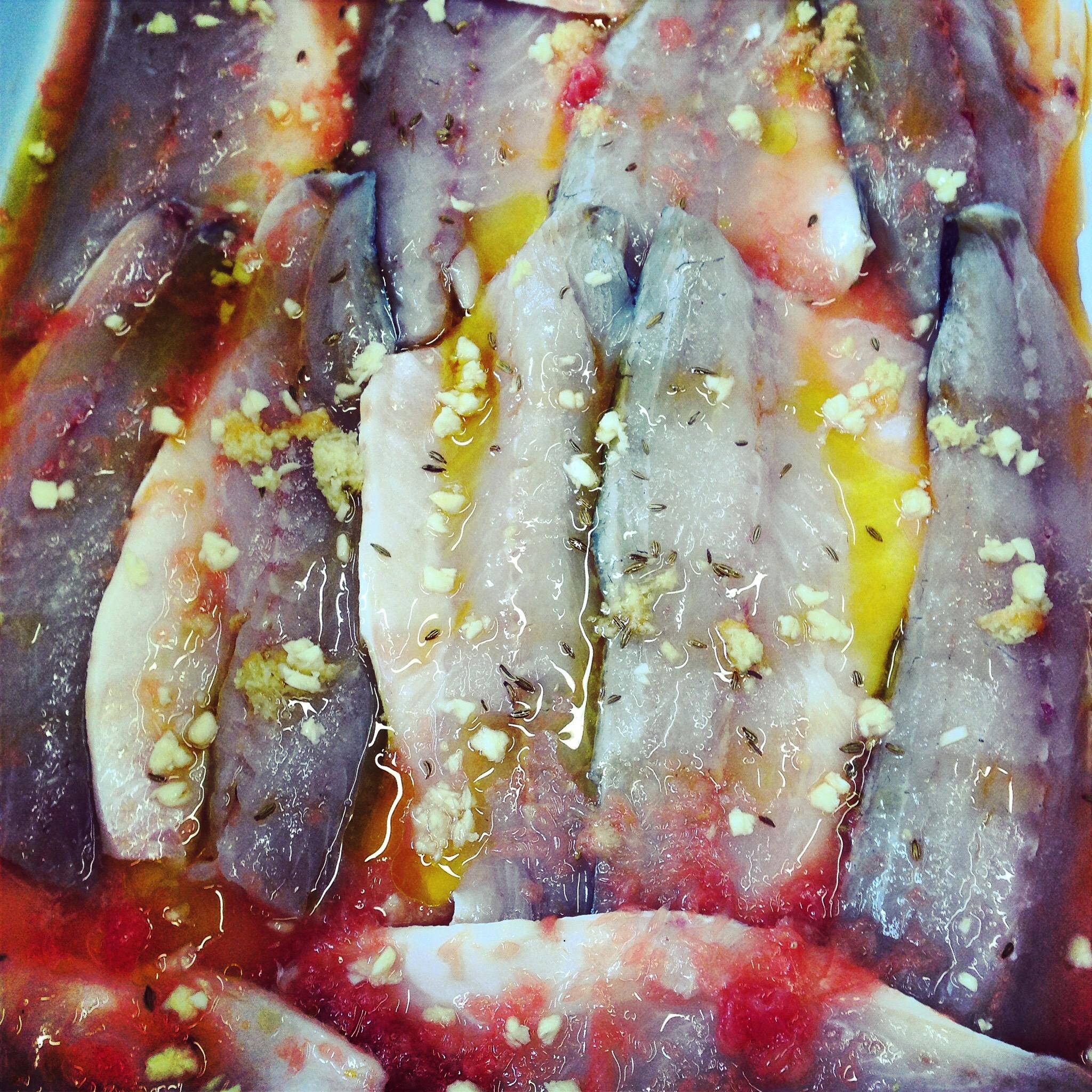 Citrus marinated sardines