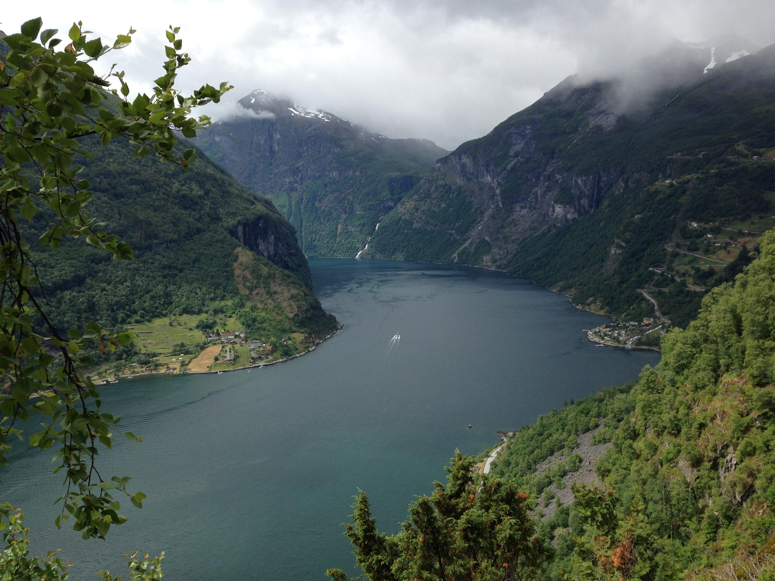 Geirangerfjord, a Unesco World Heritage site.