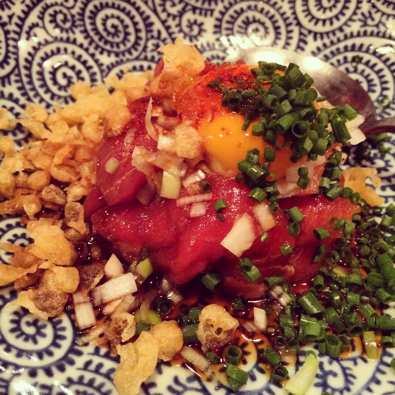 Tuna tartare with all the fixings