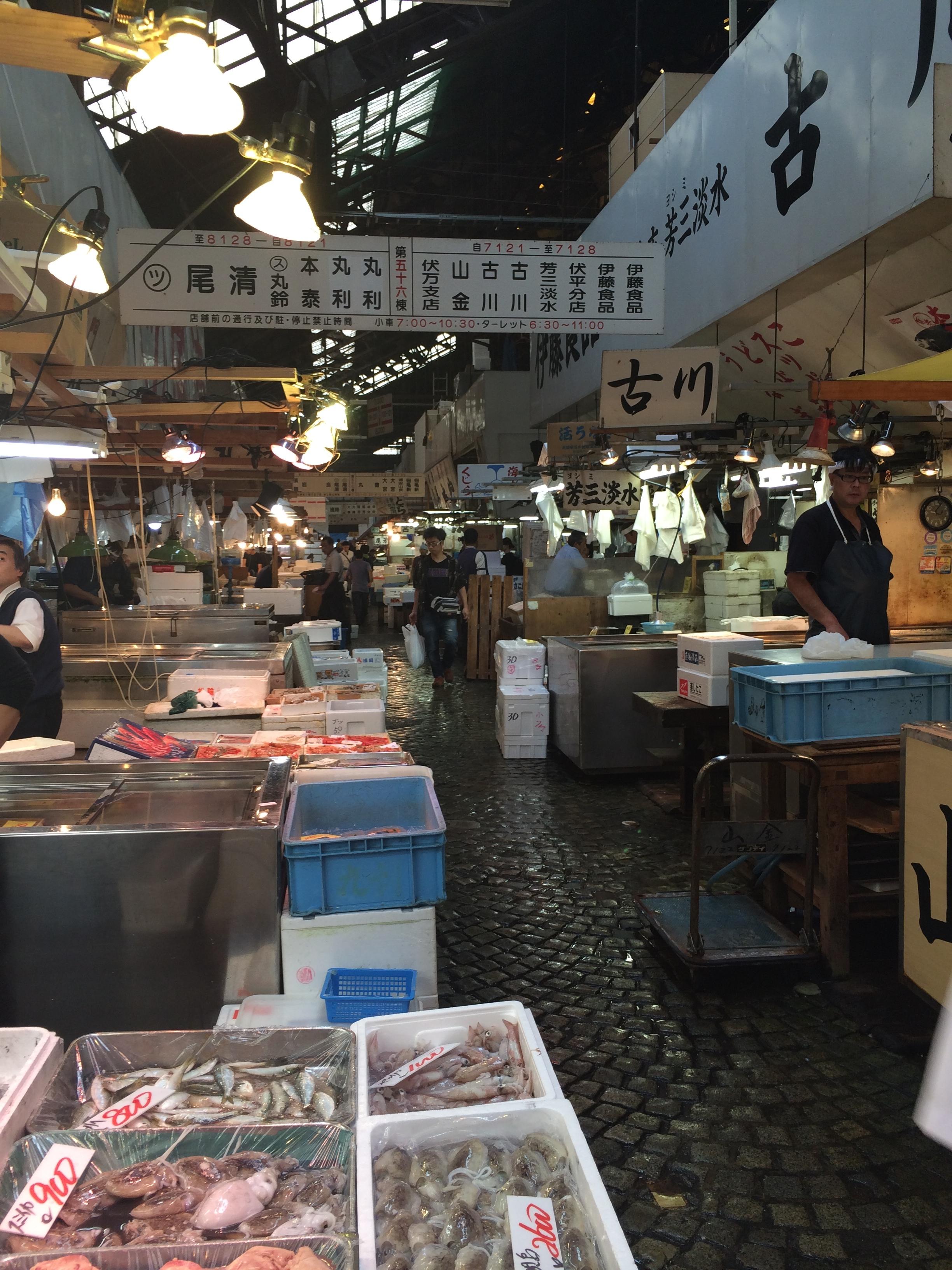 The inner market at Tsujiki