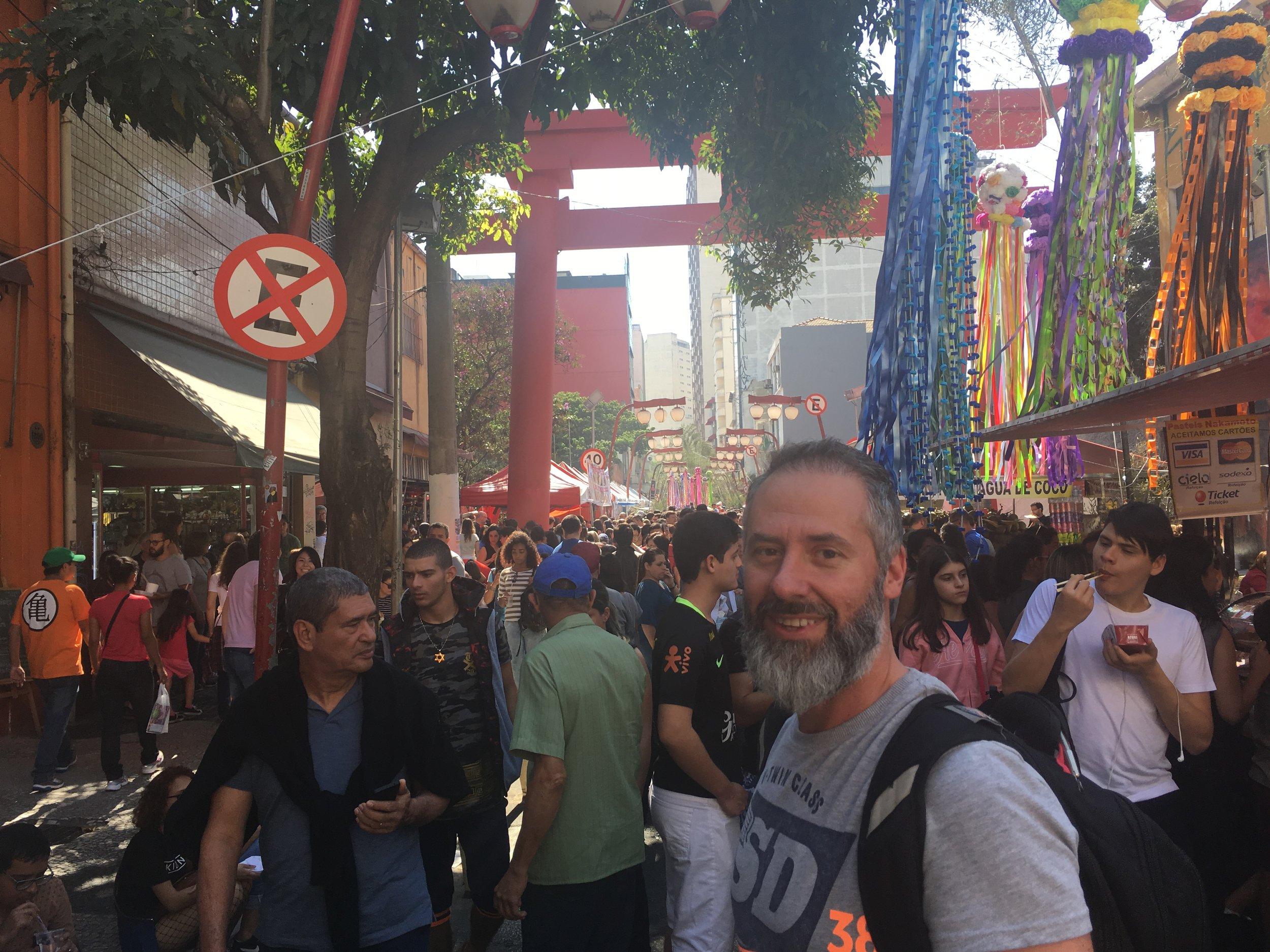 Street fair in Liberdade