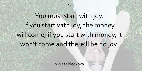 Start with Joy quote