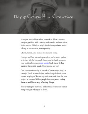Day 3 of 40 Days if Creative Rebellion