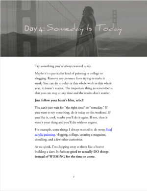 Day 4 of 40 Days if Creative Rebellion