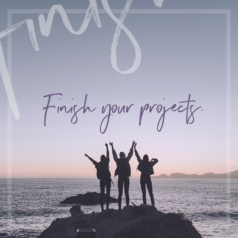 Why is it so hard to finish your projects? If you think you can't finish your projectsm try this method.