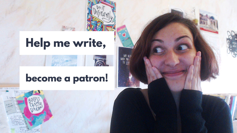 Will you help me write? Join my writing journey on Patreon.