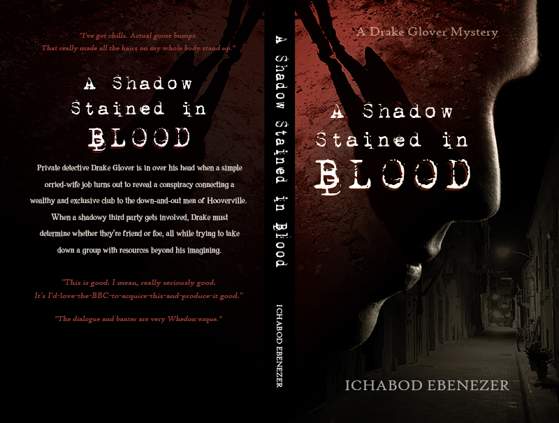 A Shadow Stained in Blood by Ichabod Ebenezer, Book Cover Design by Violeta Nedkova