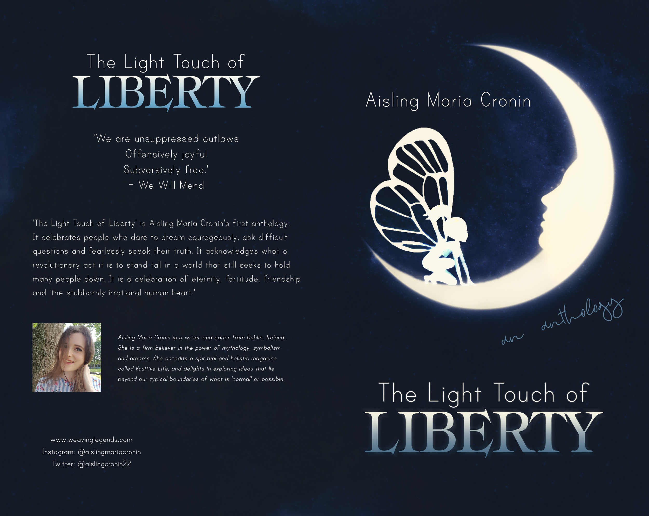 The Light Touch of Liberty by Aisling Maria Cronin, Book Cover Design by Violeta Nedkova