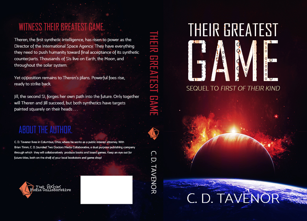Their Greatest Game by C. D. Tavenor, book cover design by Violeta Nedkova