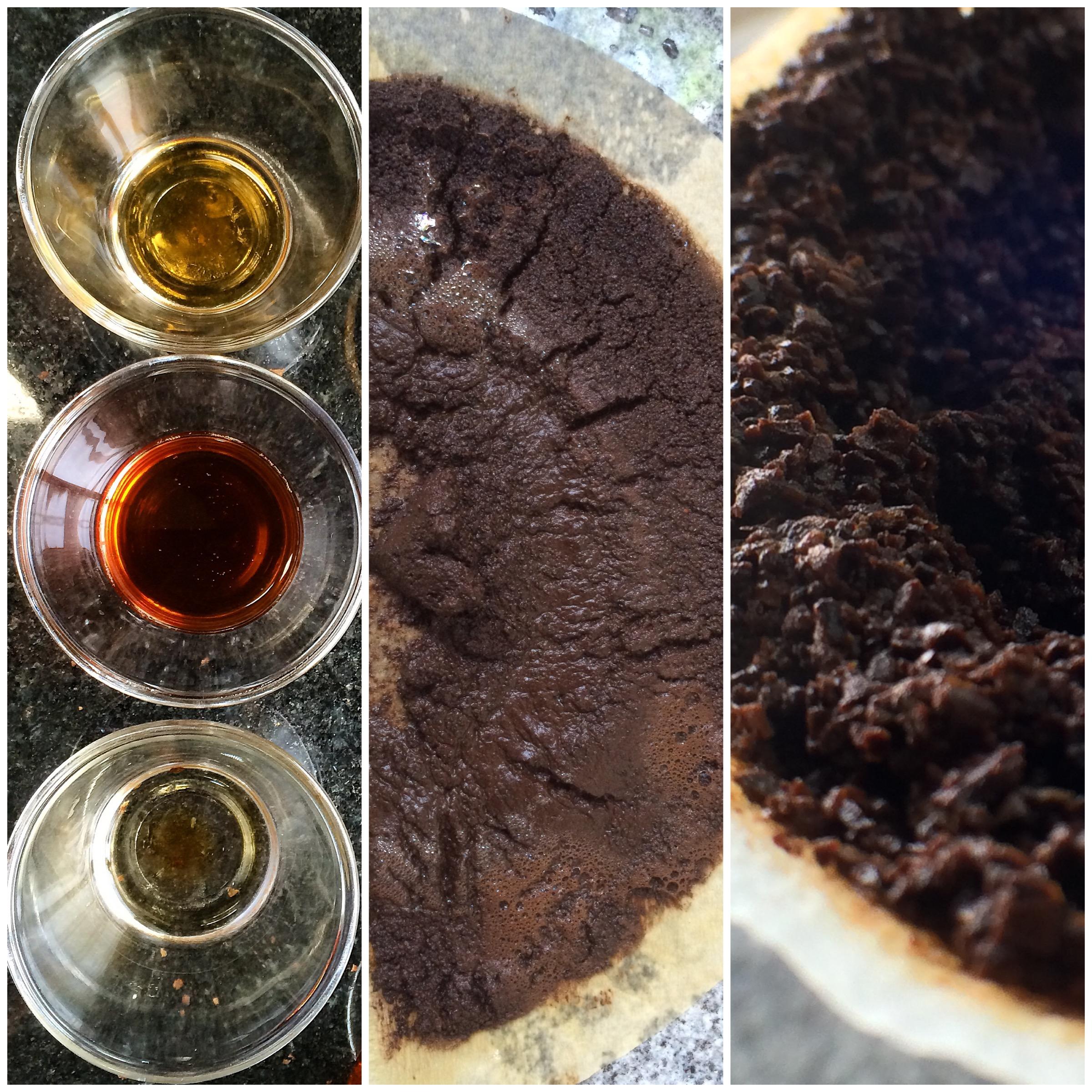 """Água, tamanho das partículas, geometria do """"bolo de café"""" e temperatura. Parâmetros de Extração."""