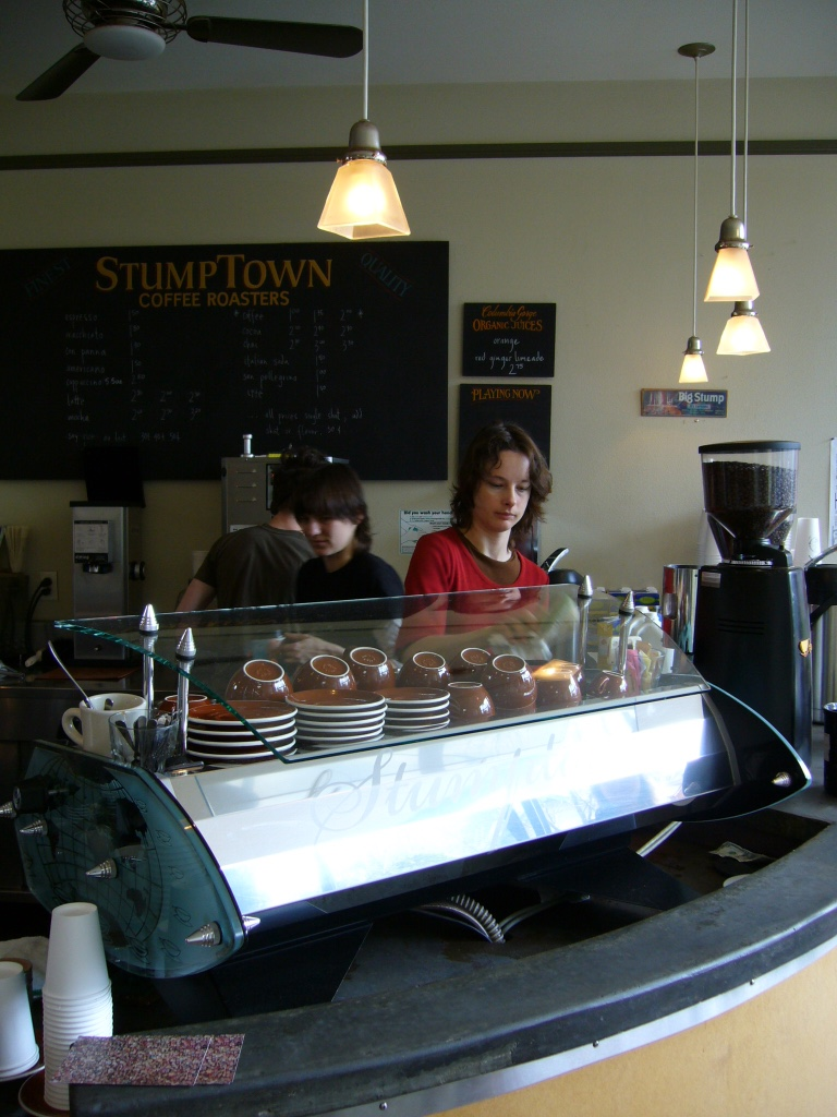 Stumptown Coffee Roasters, detalhe da Spirit, Portland, OR.