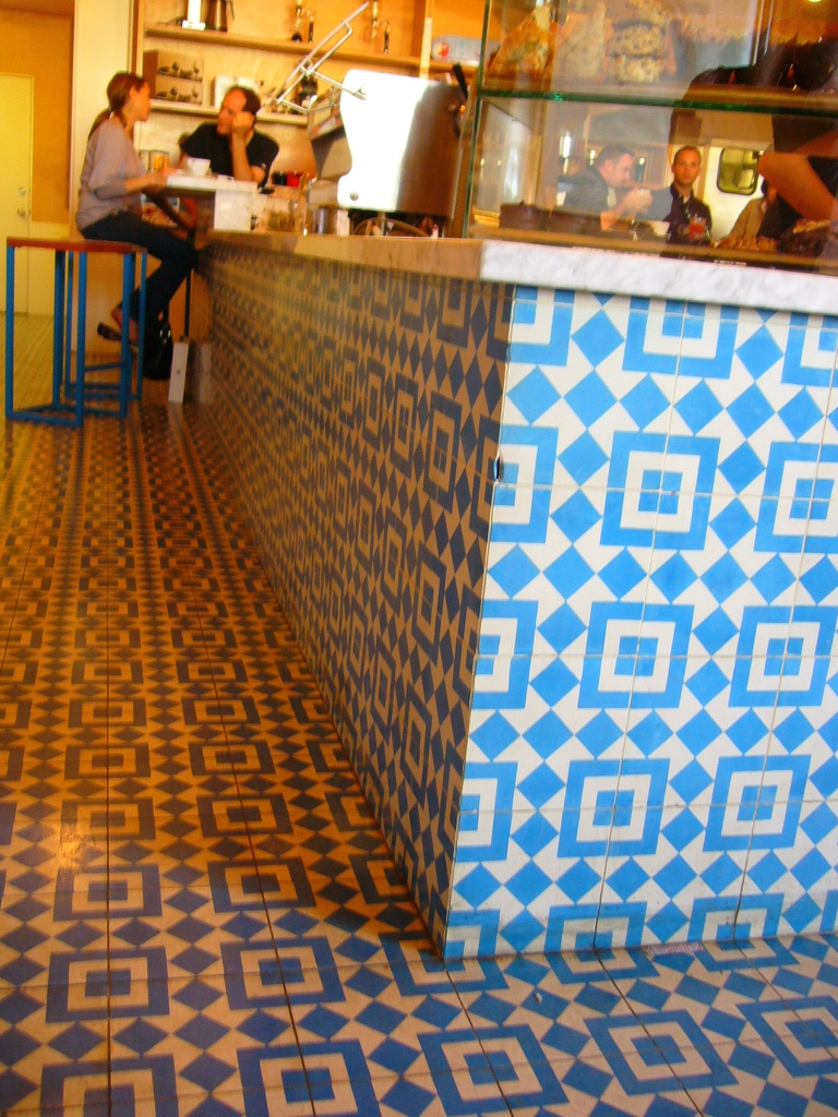 Intelligentsia, detalhe do balcão, Los Angeles, CA.