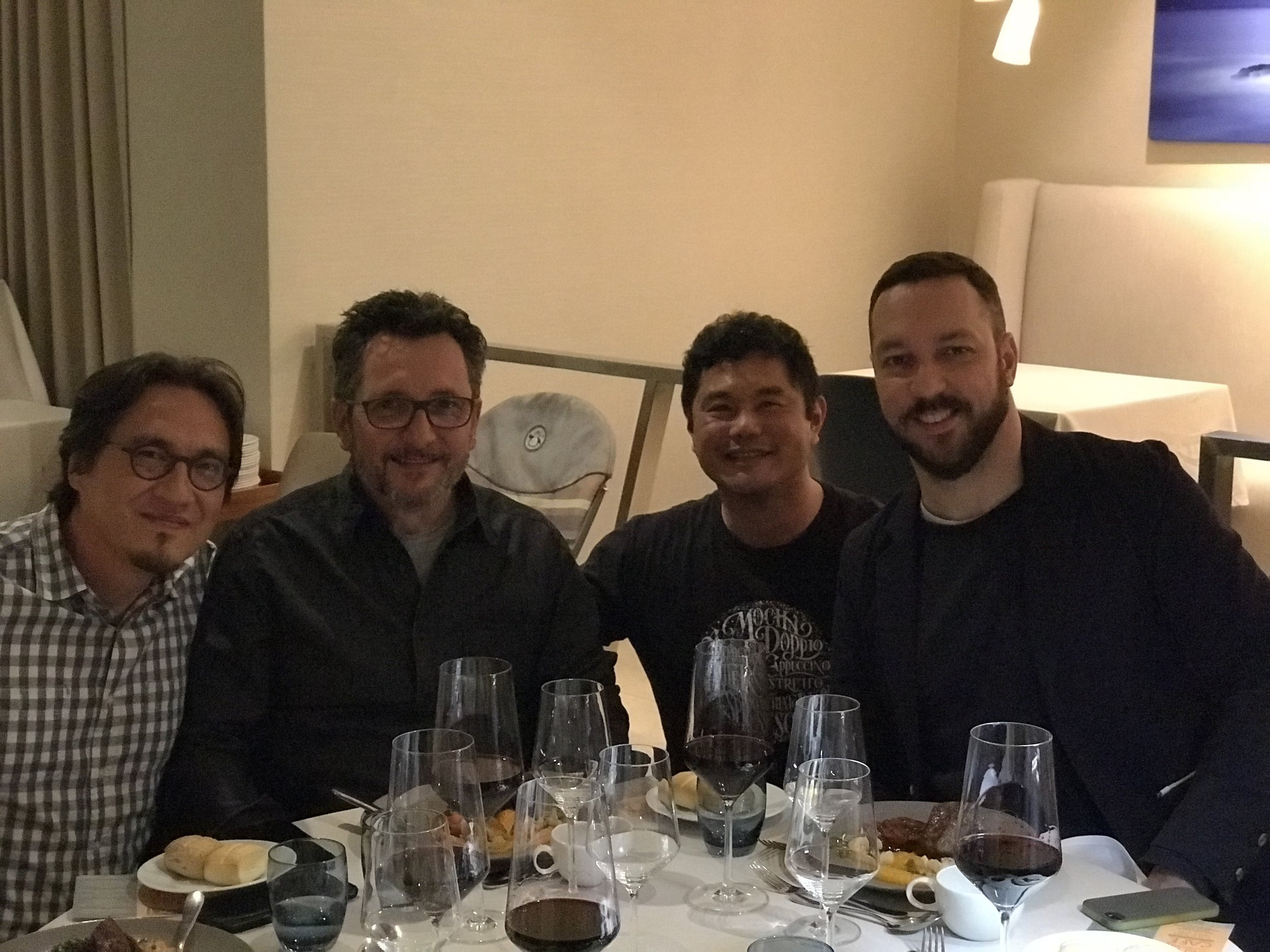 Daniel Kondo, Reinaldo Coser e Rafael Tonon