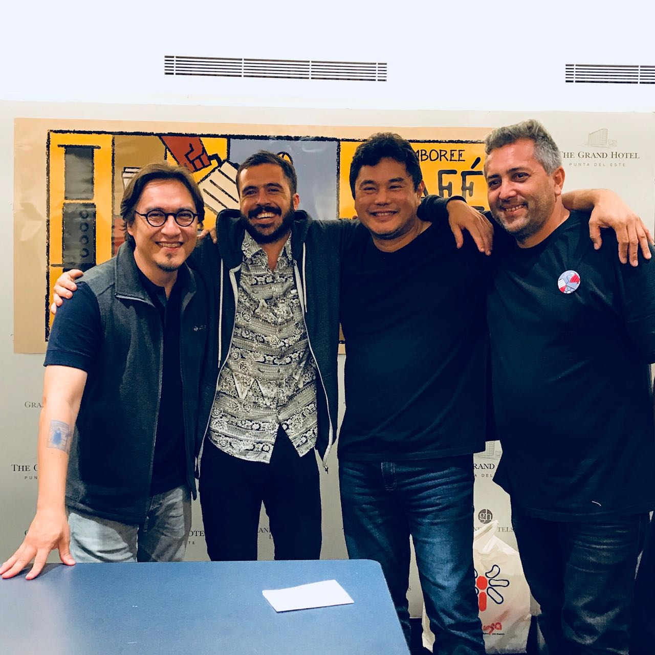 Daniel Kondo, Nacho Gallo y Juan Pablo Imbellone