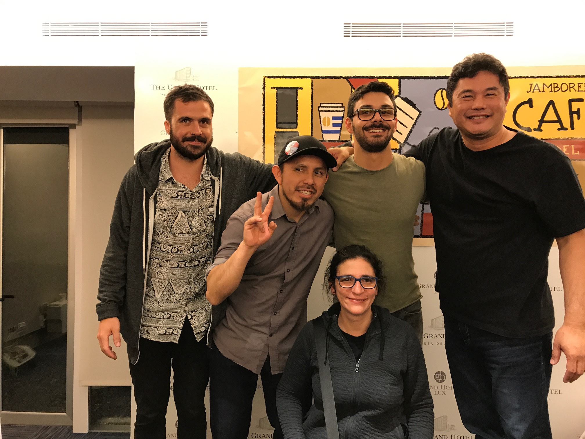 Nacho Gallo, Daniel Calderón, André Martinelli y Alicia Radi