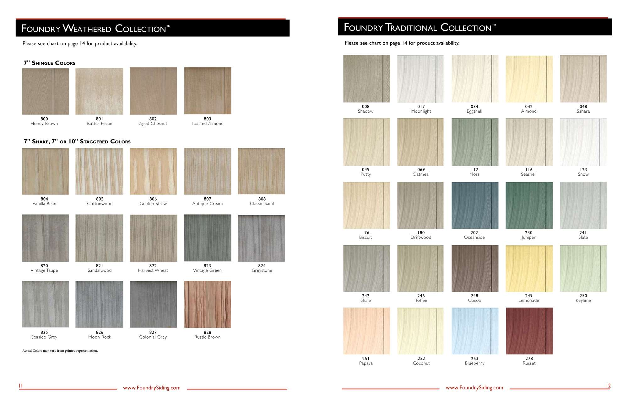 Foundry Siding Color Chart