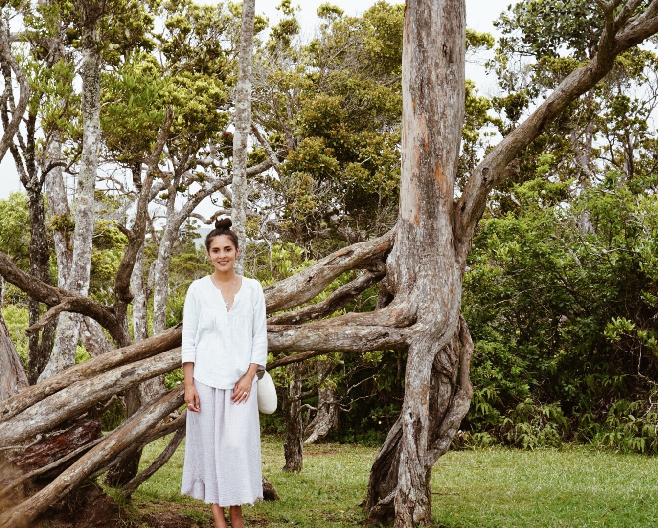 XiRENA  top +  It Is Well LA  skirt +  Catzorange  bucket bag + Moment sandals +  Everli Jewelry  balance necklace