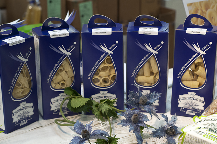 One of many artisan pastas in beautiful packaging