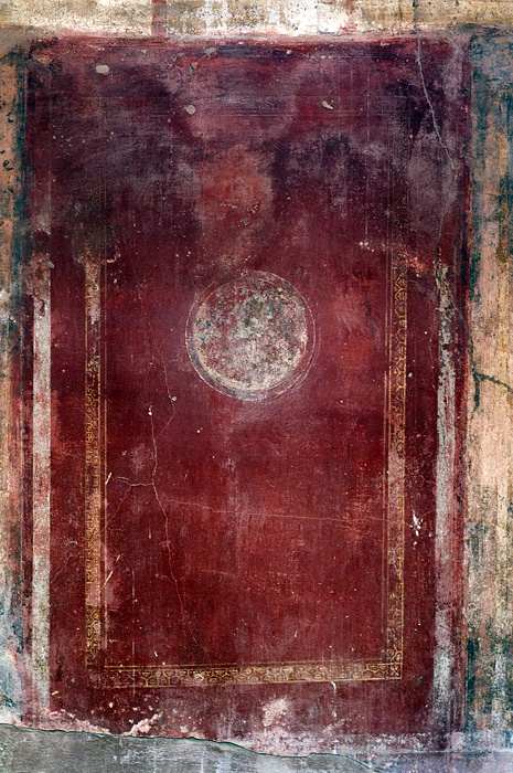 one of many frescoes recovered during pompeii excavations