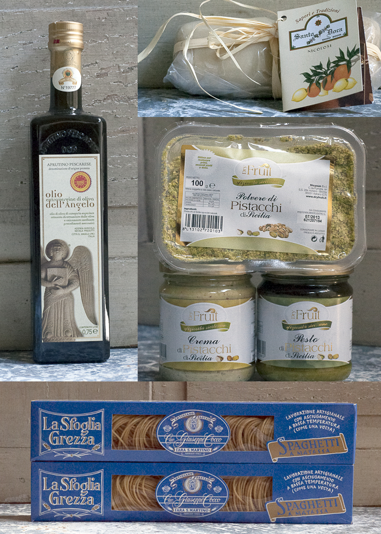 Italian products in care package