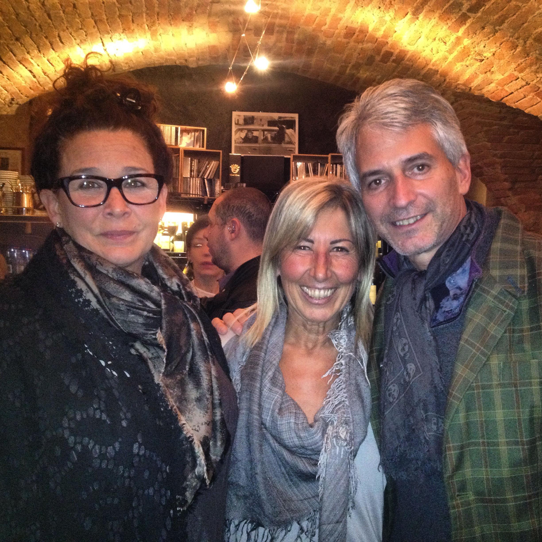 Linda and Jonathan Plazonja with Anna Abbona of the Marchesi di Barolo estate.