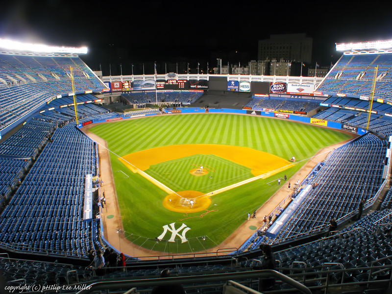 I was able to attend a game at Old Yankee Stadium when the Yankees played the Braves in 2005.  Seeing the monuments and history of one of the most storied baseball clubs was incredible!