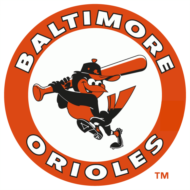 The first team I ever played on in tee-ball was the Orioles.  I remember collecting baseball cards that had this logo on them.  Brings back good memories, so it comes in at #5.