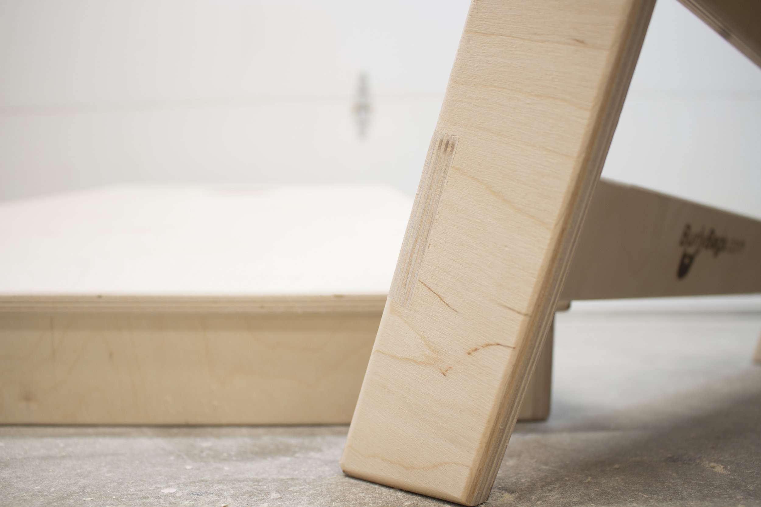 Lap Joint legs for additional strength and stability.