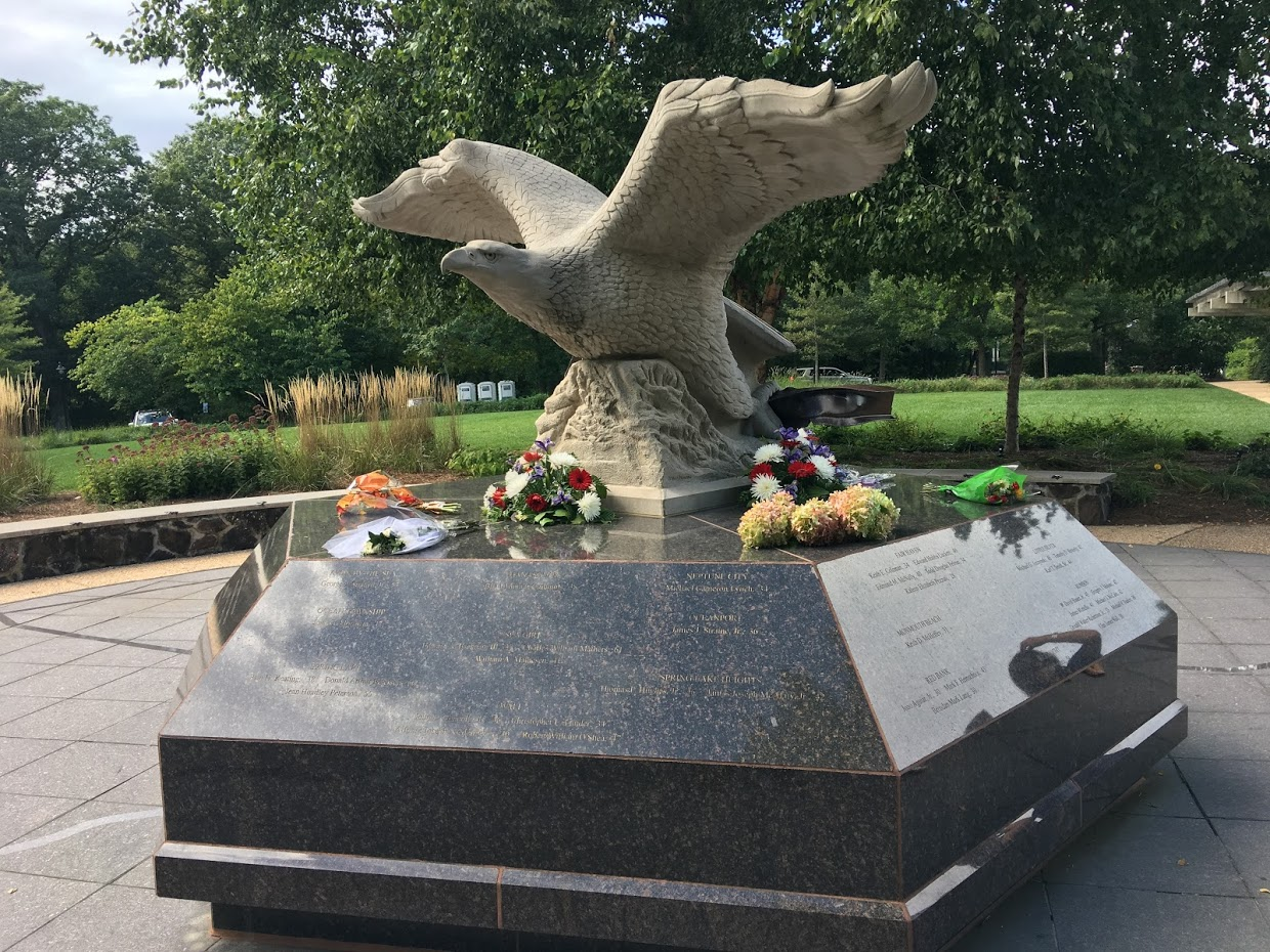 Memorial to those in our area who died in the 911 tragedy
