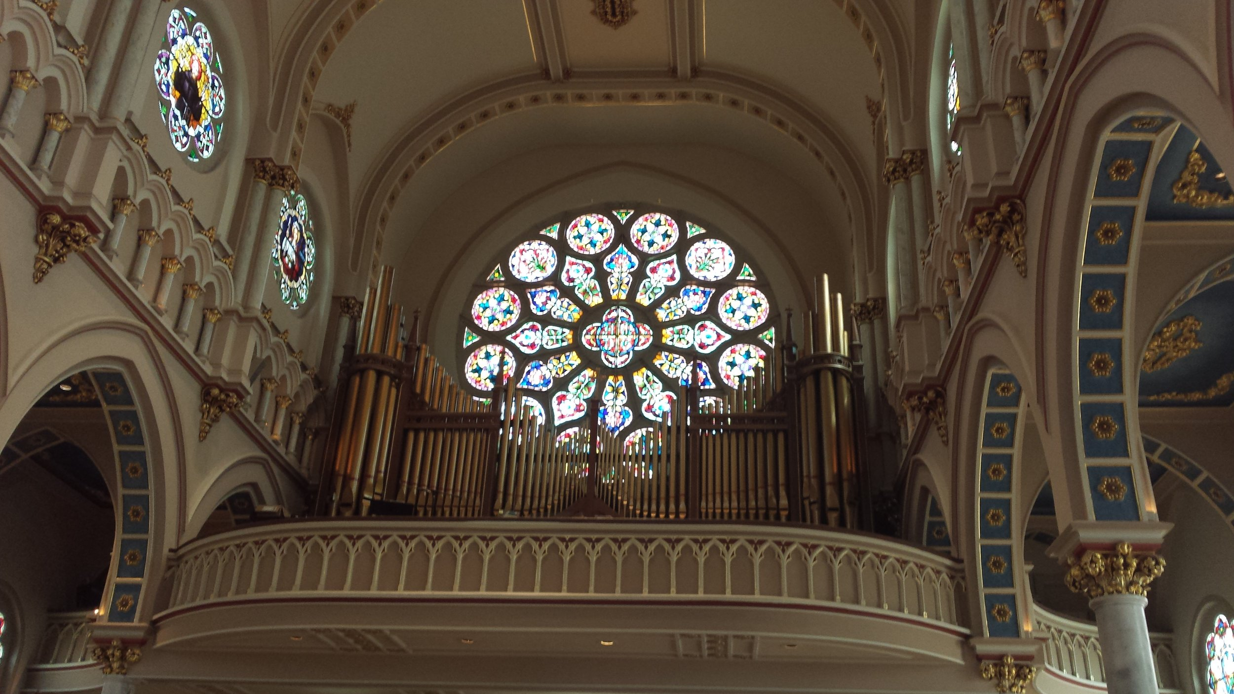 Beautiful stained glass at St. Joseph's Church in downtown Macon