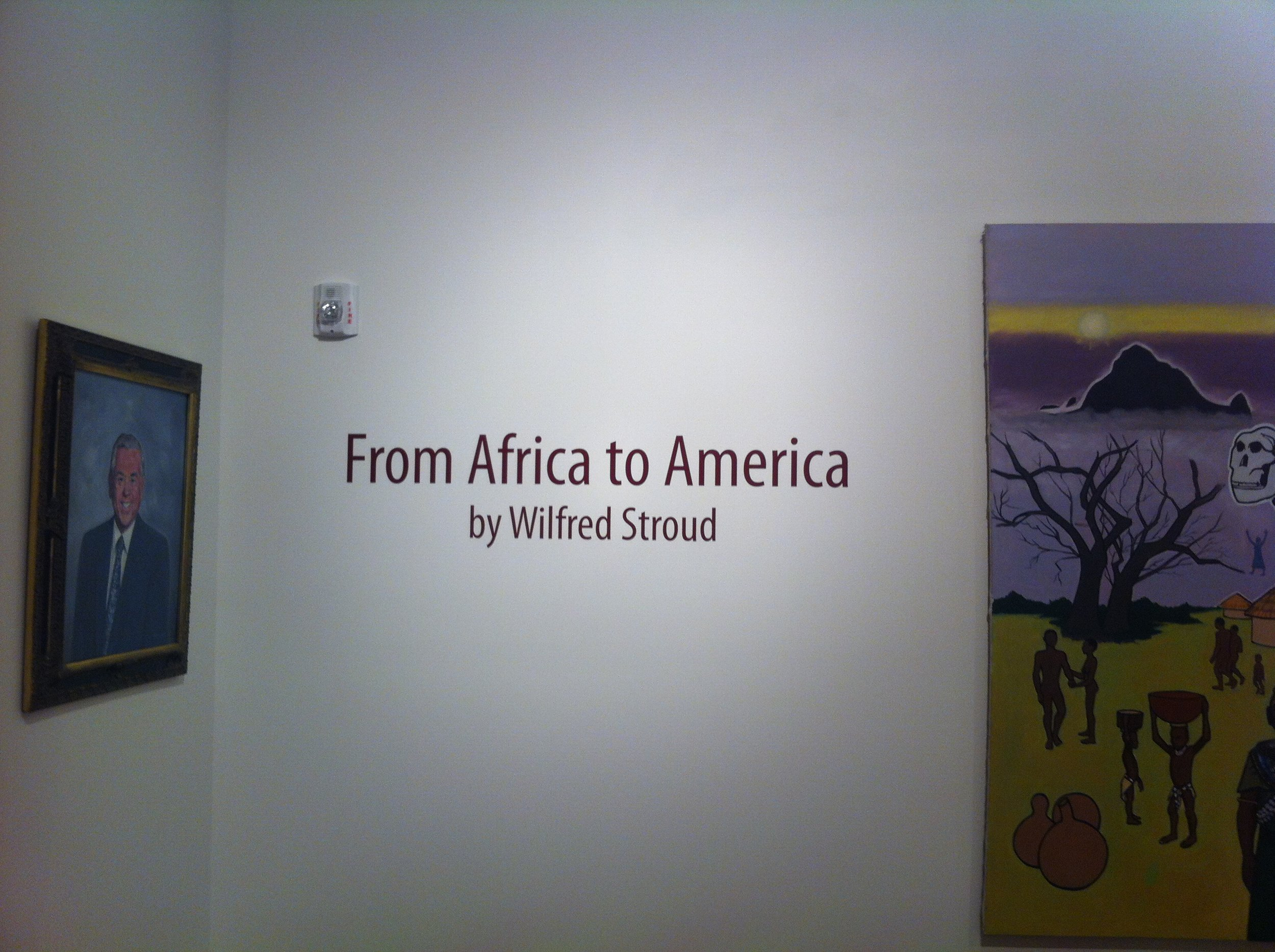Tubman Museum Gallery. This remarkable piece stretches the length of the room!