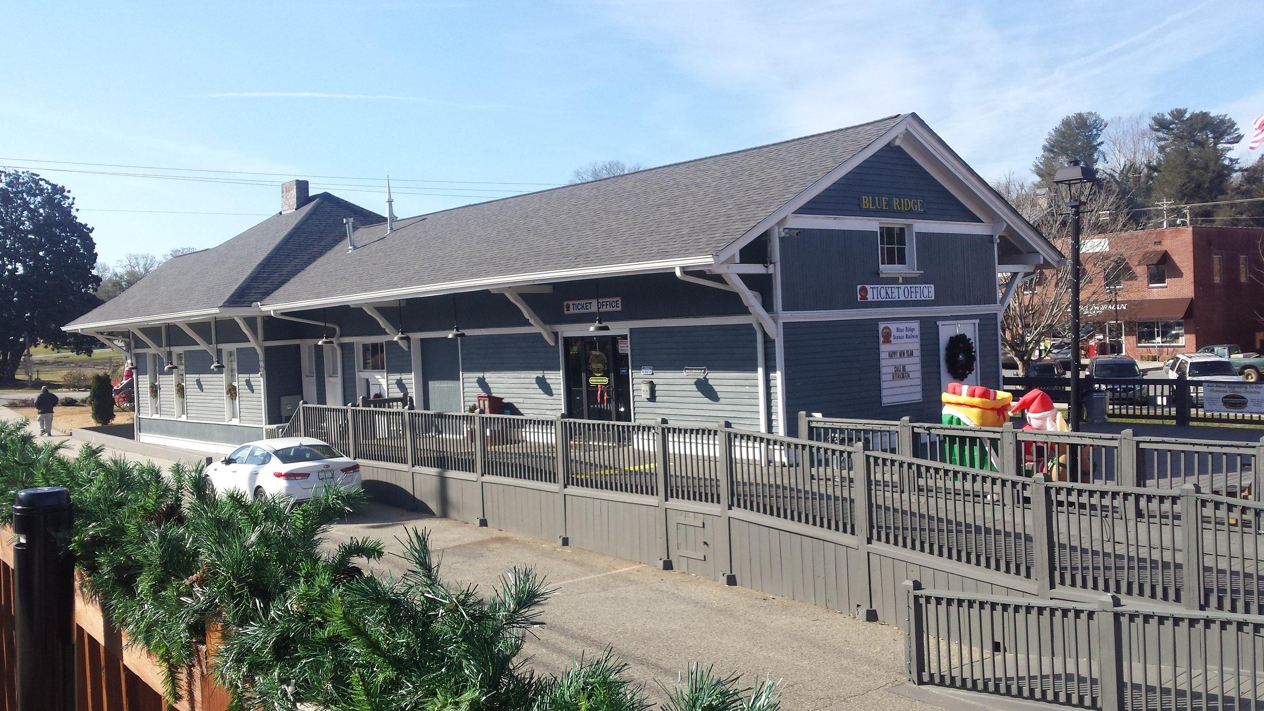 Historic Train Depot, Blue Ridge, Georgia