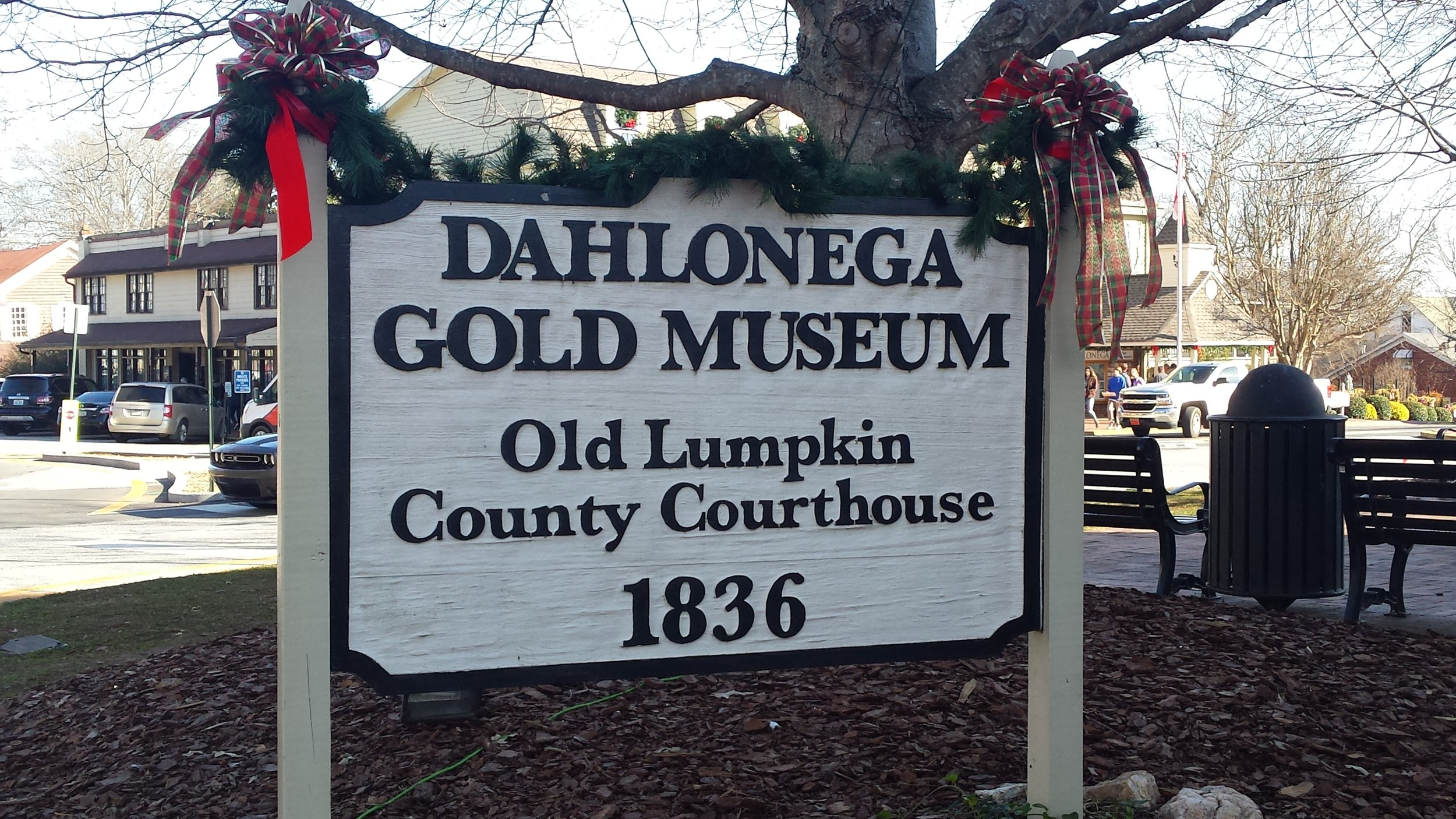 The center of Dahlonega town square features the Gold Museum.
