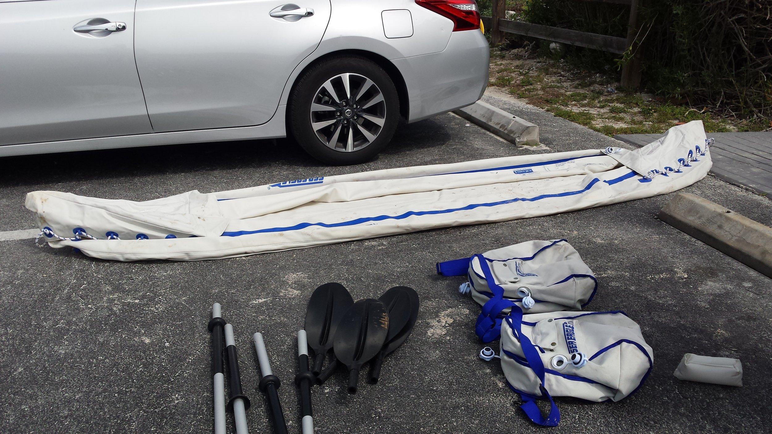 Preparing to kayak at Bahia Honda State Park