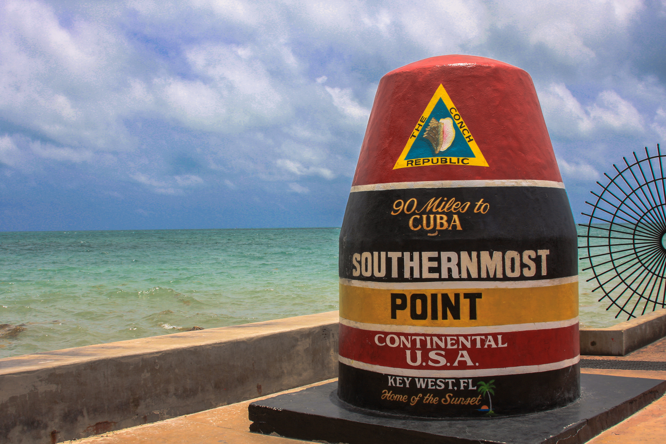 Famous southernmost point marker