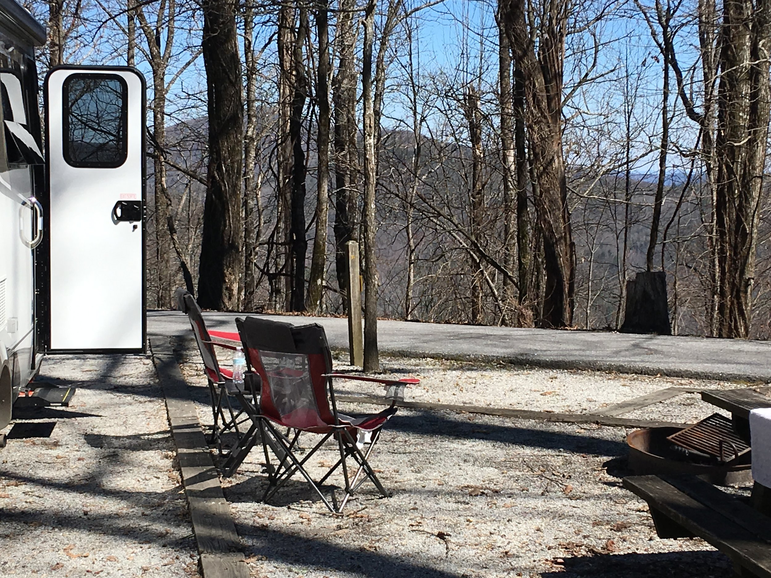 Campsite at Black Rock Mountain State Park