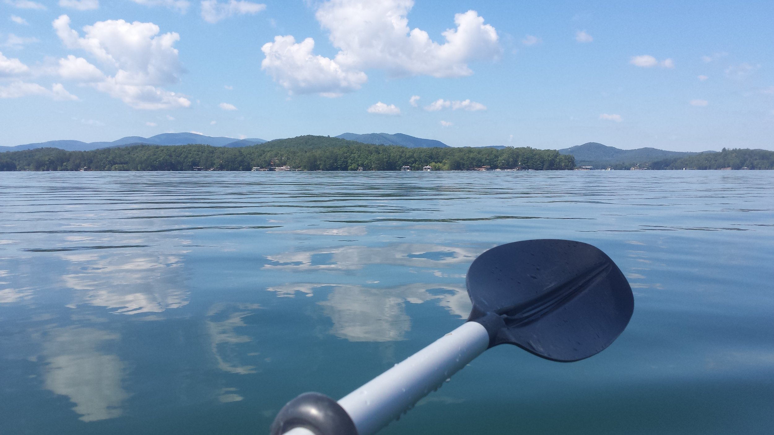 Nothing like a quiet paddle on a mountain lake