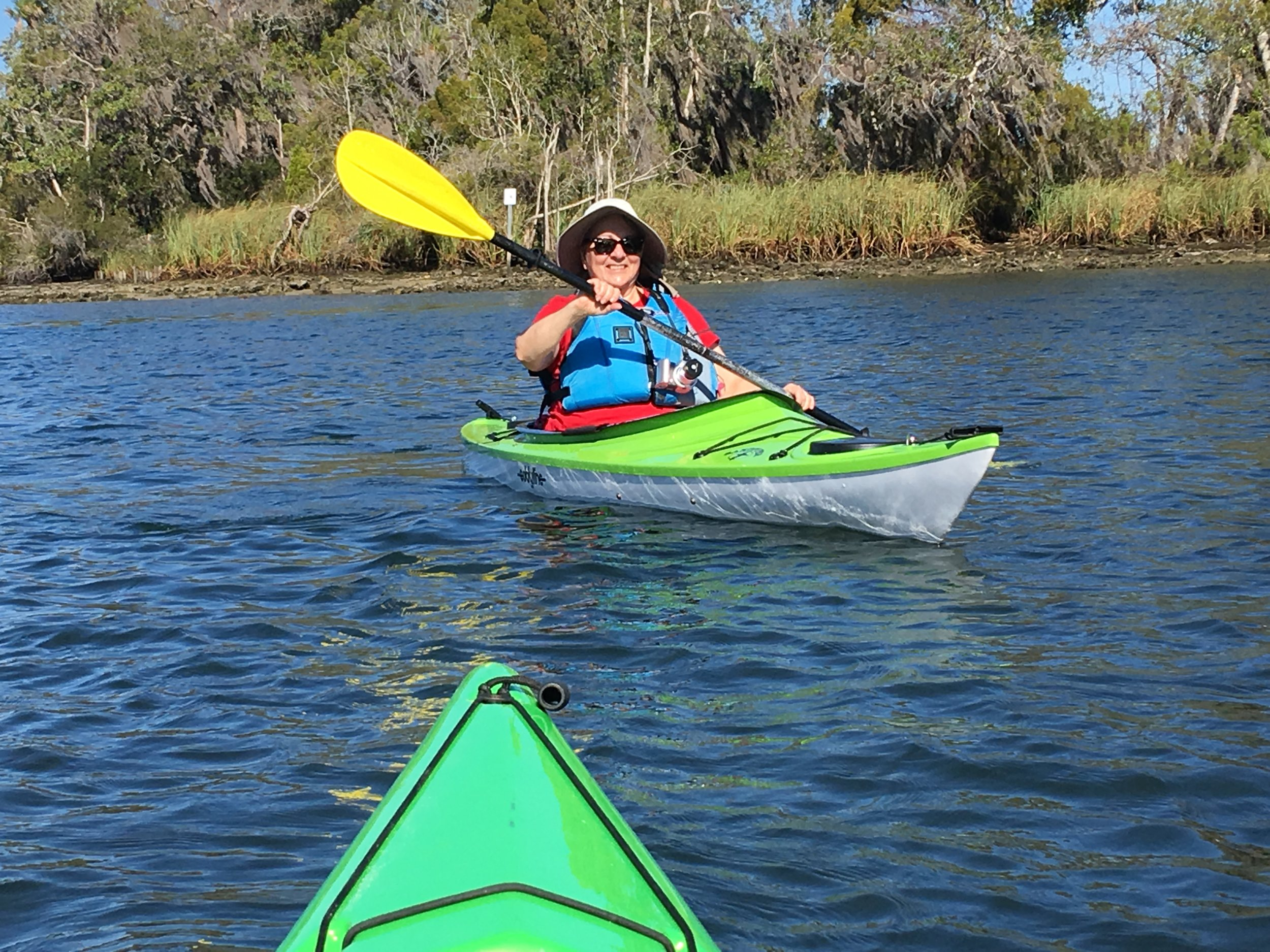 "Kayaking by the ""bird island"" in Kings Bay"