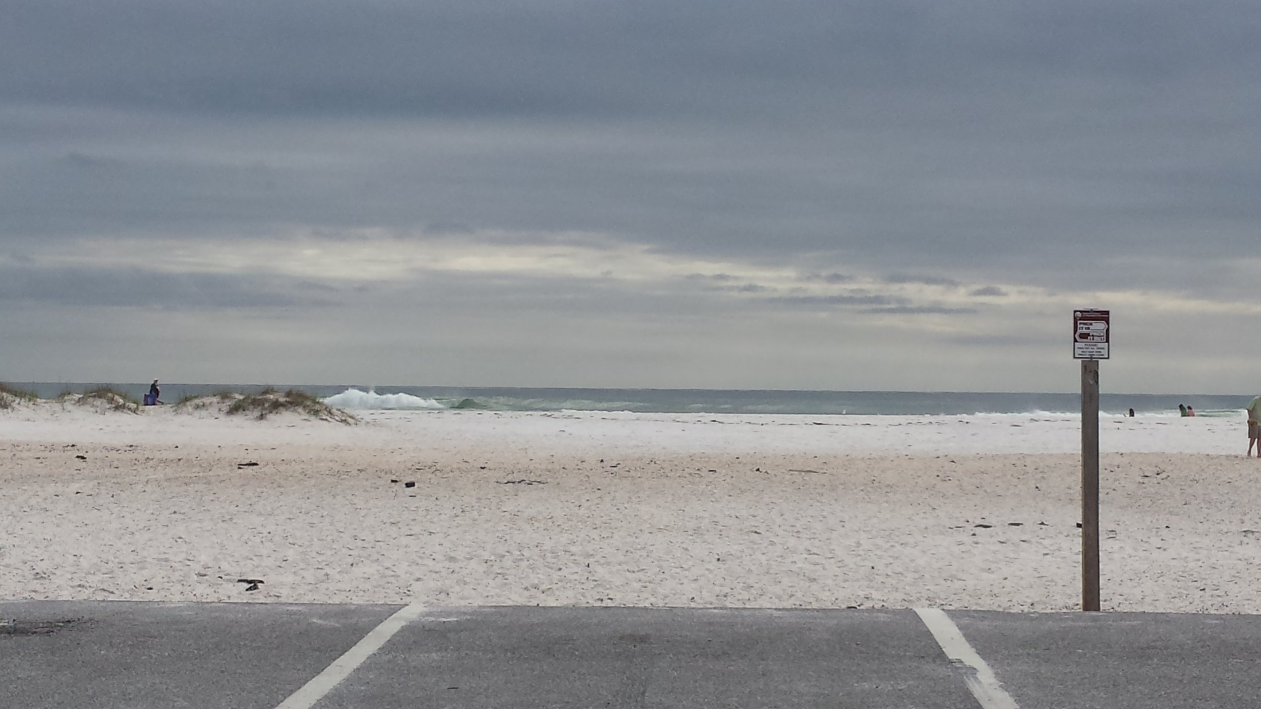 Parking spot right on the beach at Gulf Islands National Seashore