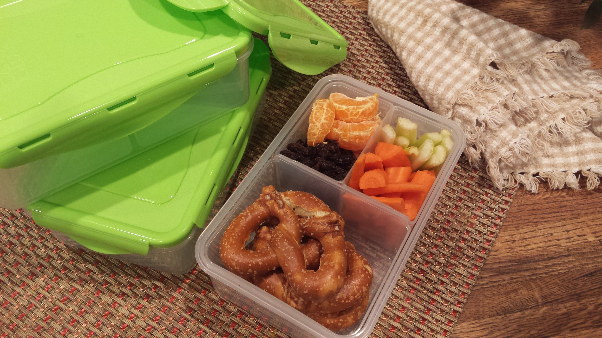 Bento box with removable sections