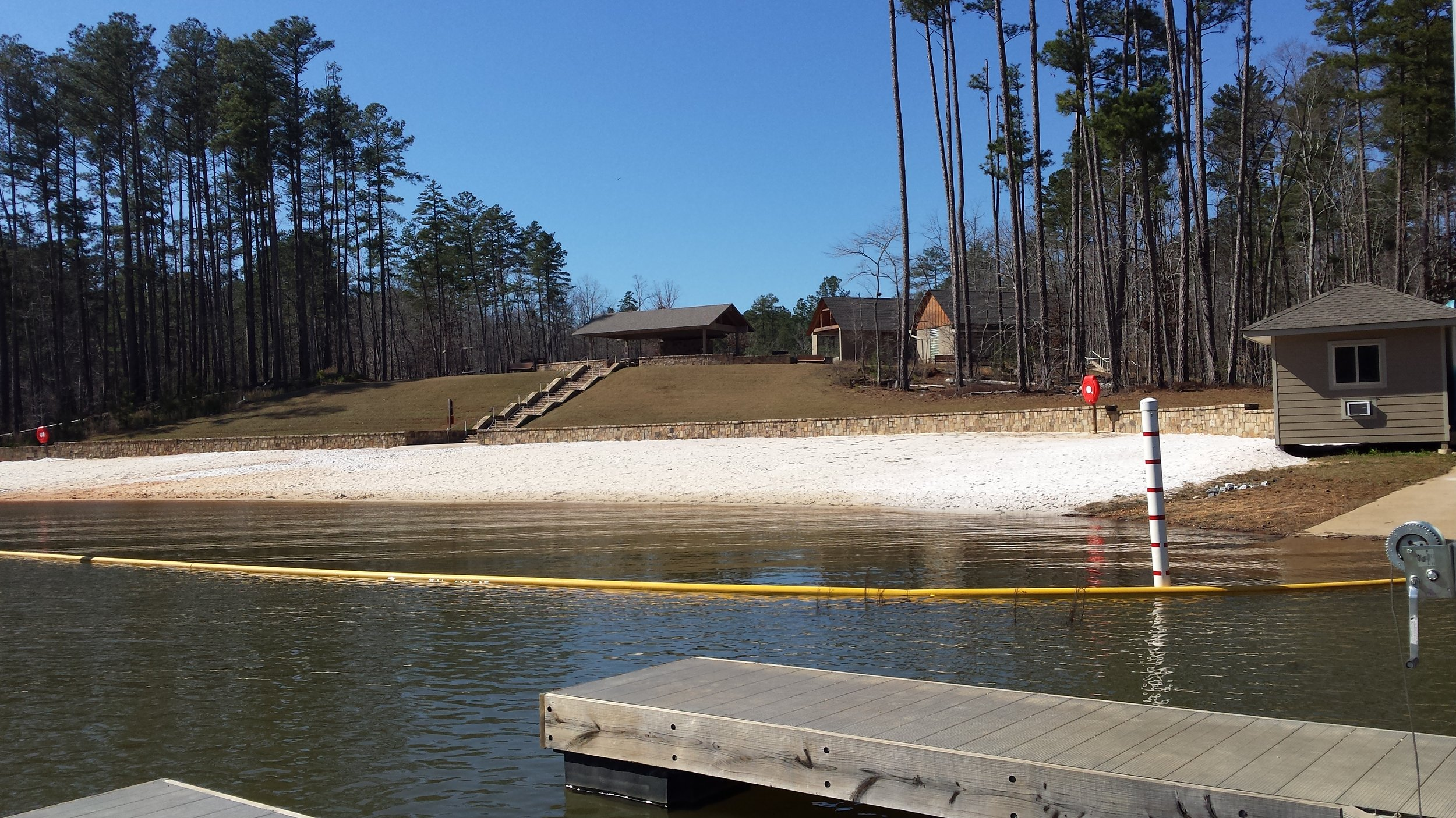 The beach complex at Don Carter State Park, Gainesville, Georgia offers kayak rentals!
