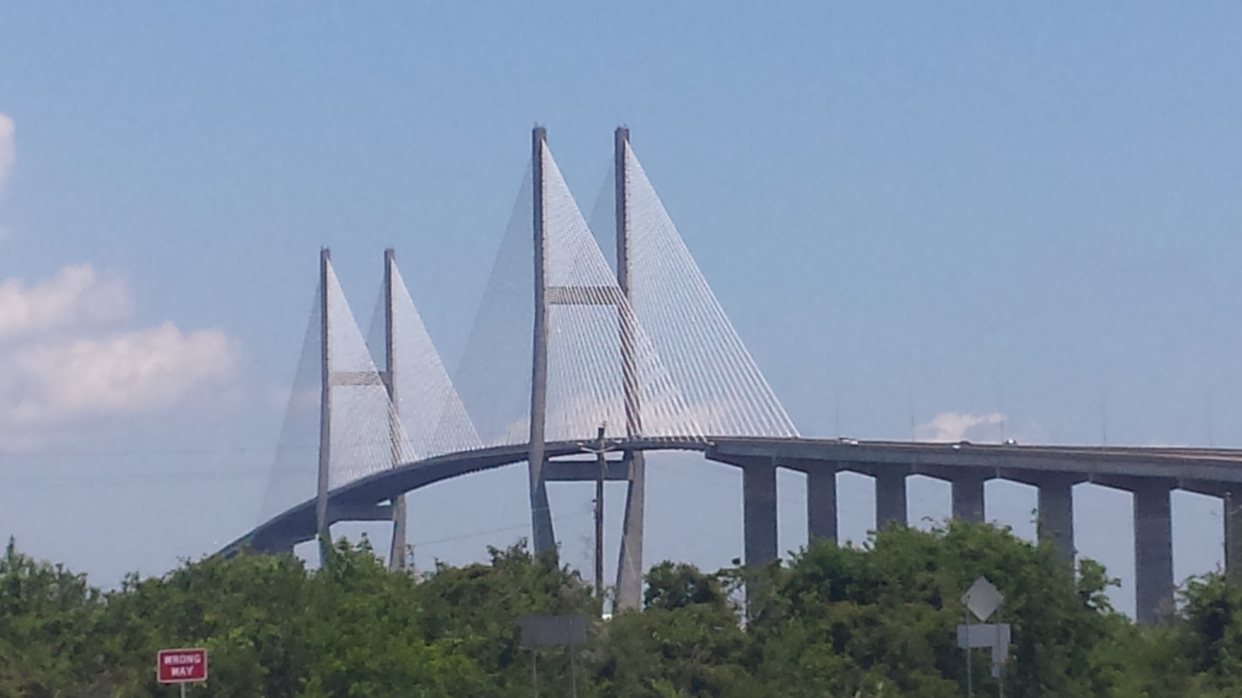 The Sidney Lanier bridge to Brunswick from Jekyll Island