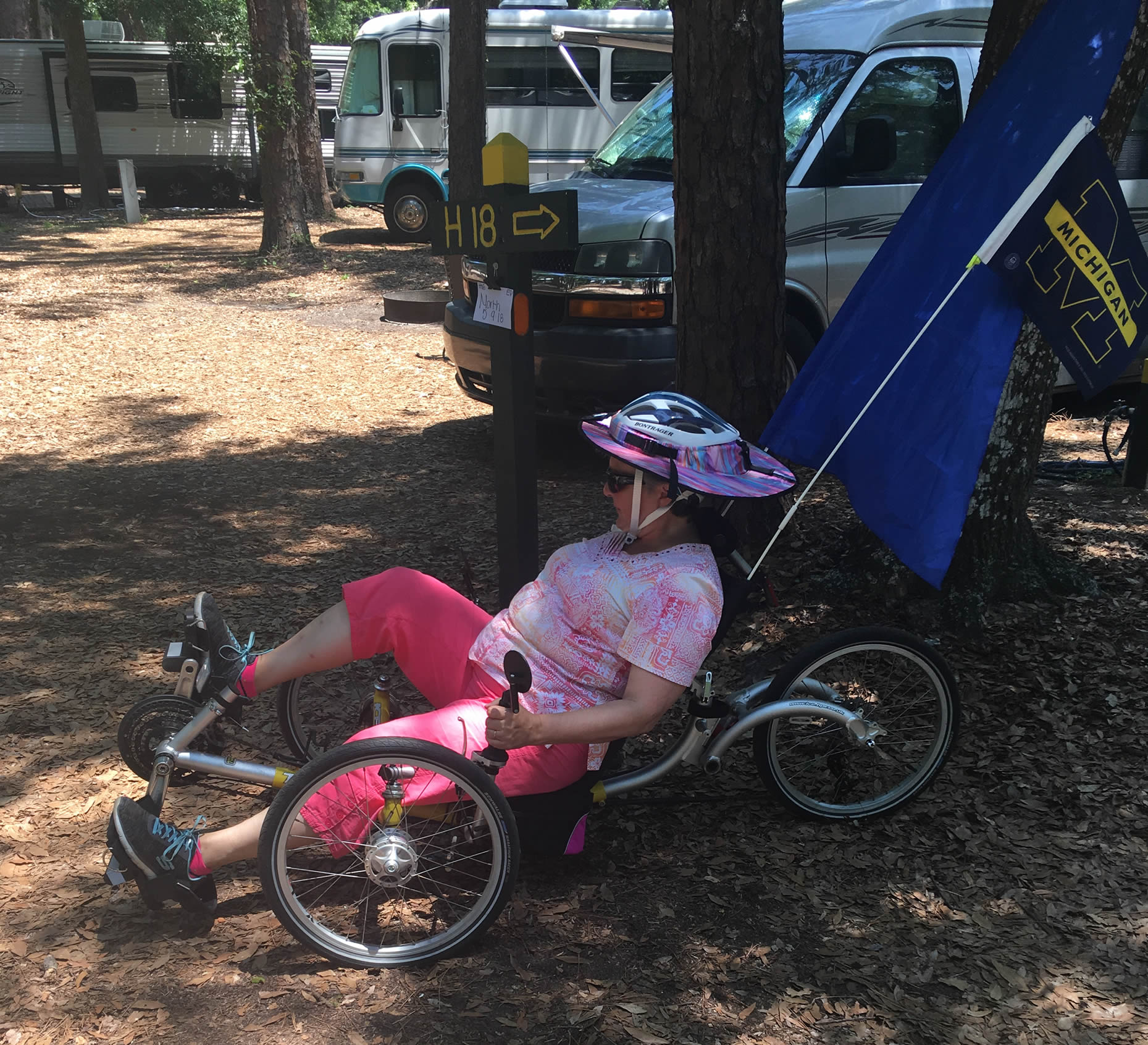 A Recumbent Bike was a challenge for me!