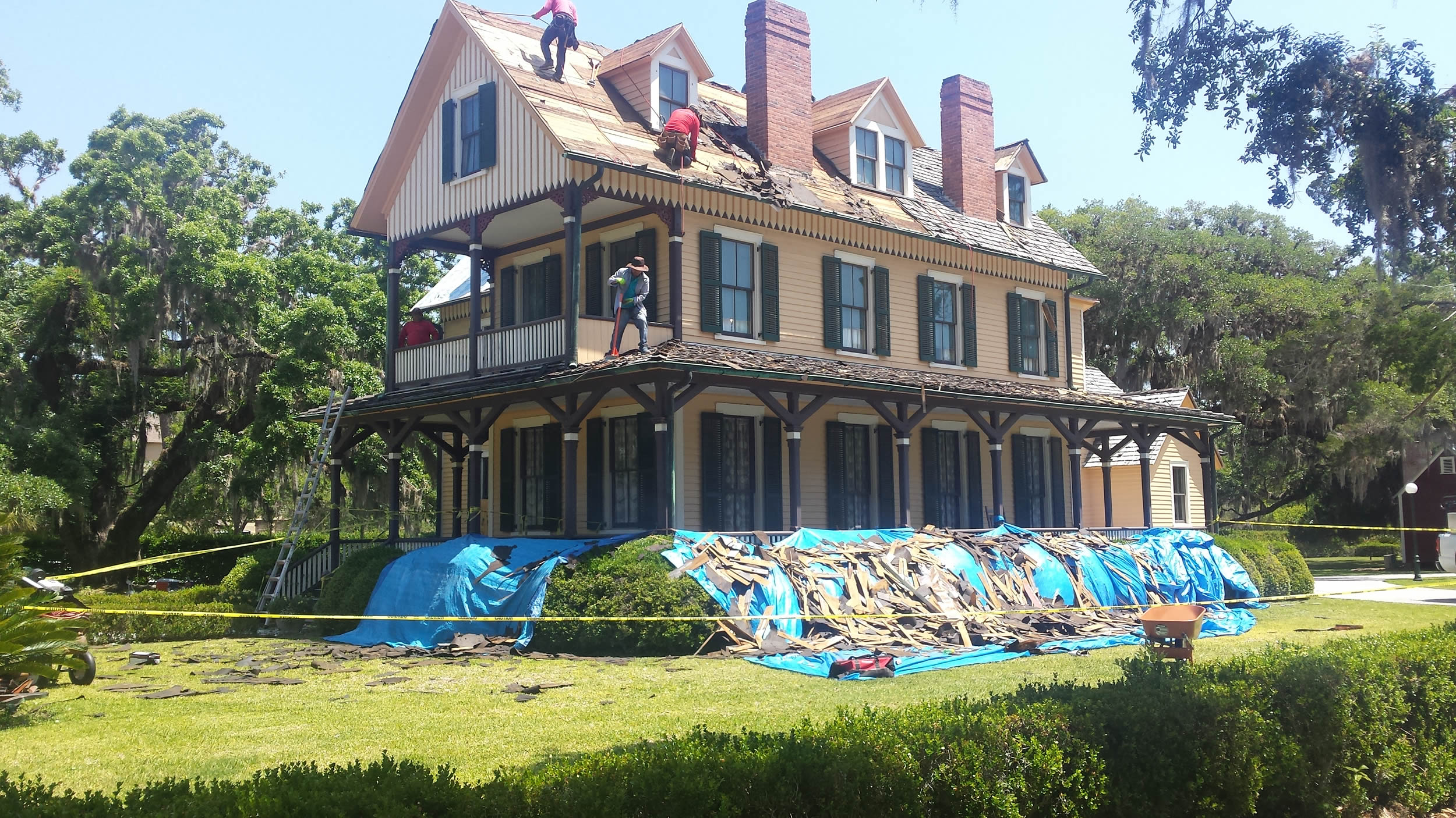 One of the old summer cottages being restored in the historic village on Jekyll Island.