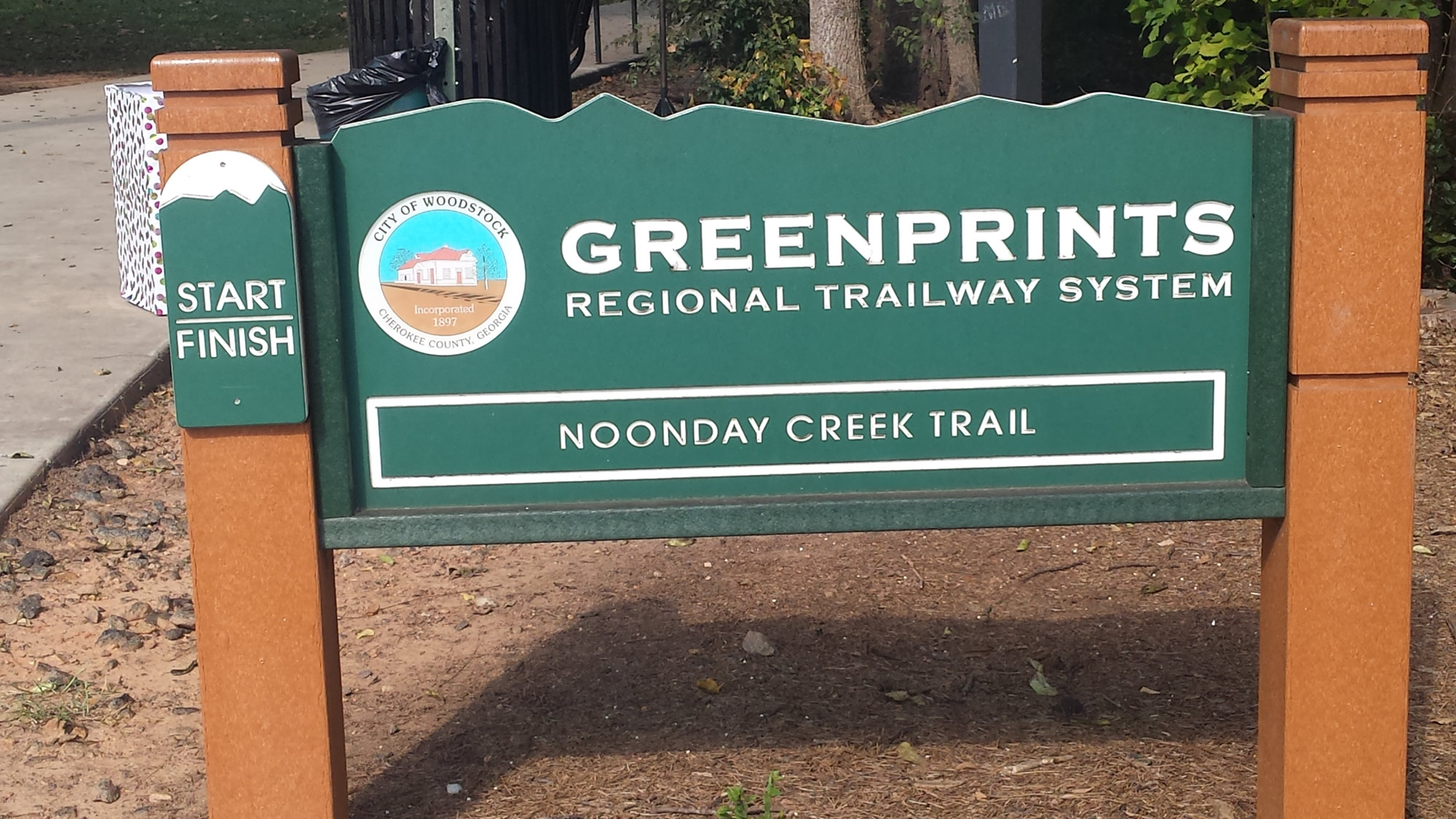 Noonday Creek Trail runs 15 miles from downtown to highway 92