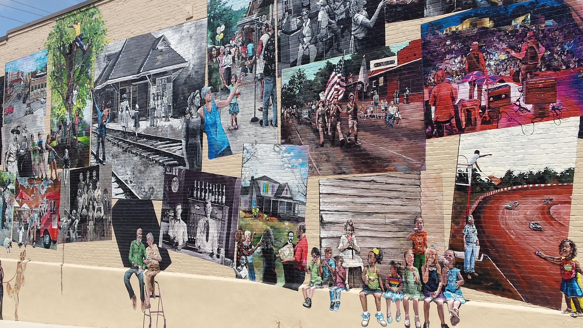 Woodstock Community Mural on Mill Street
