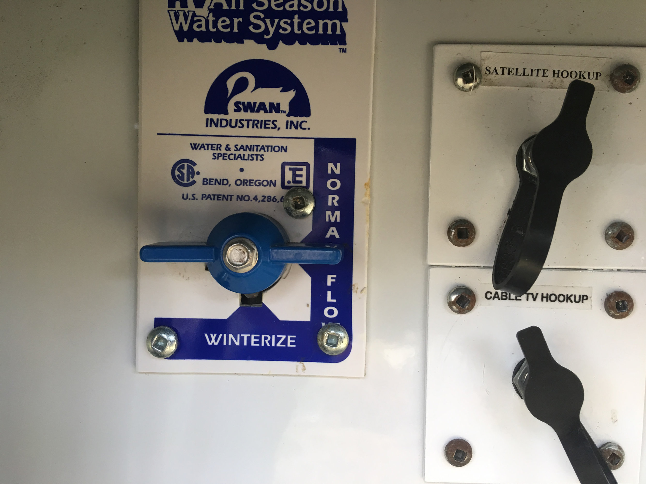 """Make sure you change the water system valve from """"winterize"""" to """"normal"""" before you begin."""