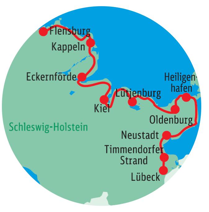 Lübeck nach kiel radweg von Fahrradreisen