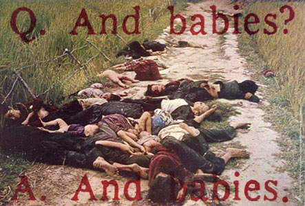 'And babies', Art Workers Coalition, December 1969, http://moussemagazine.it/img/31/609/609_B609_my_lai-1.jpg