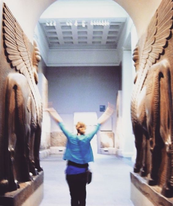 In the Assyrian wing of the British Museum. Assyria was an ancient civilization of present-day Iraq and Syria, and many of its key sites have been recently occupied by ISIS.